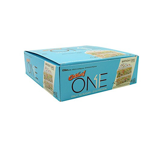 Oh Yeah! One Bar, Birthday Cake, 12 Count (2.12 oz. Per Bar / 25.44 oz. Per Box)