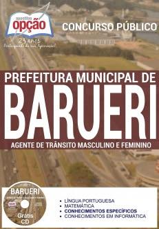 Prefeitura Municipal de Barueri / SP-AGENTE DE TRÂNSITO MASCULINO E FEMININO