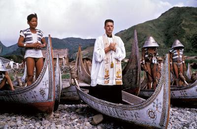 長眠於台東東河小馬教堂的紀守常神父,當年深入蘭嶼一生奉獻,因而贏得「蘭嶼之父」的美譽。(白冷會提供)