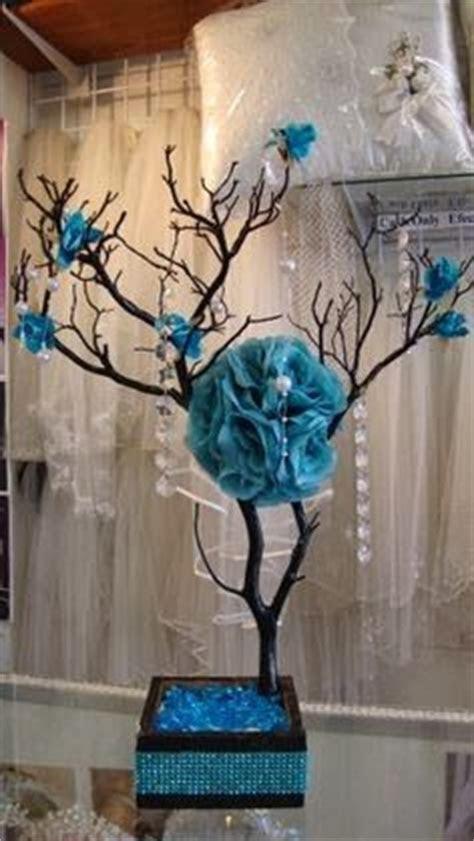 Turquoise Centerpieces on Pinterest   Quinceanera
