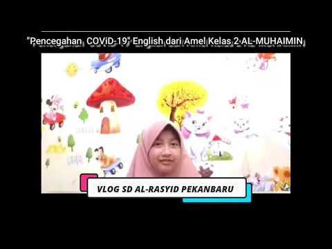Kampanye Pencegahan COVID-19 English dari Amel Kelas II Al Muhaimin