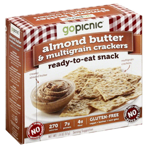 GoPicnic Almond Butter & Multigrain Crackers Ready-To-Eat ...