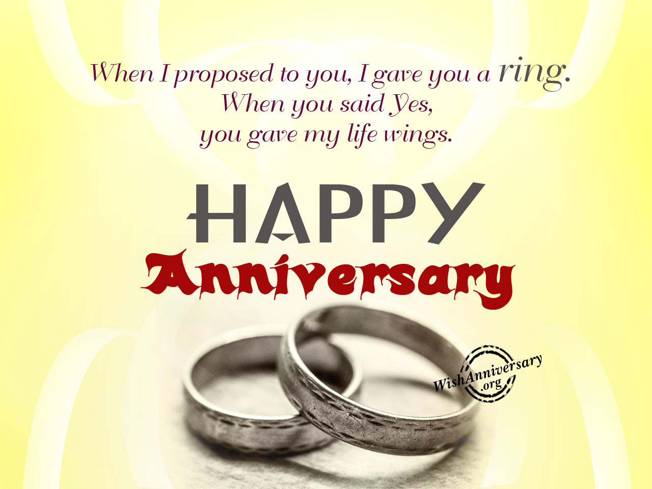 When I Proposed To Youhappy Anniversary
