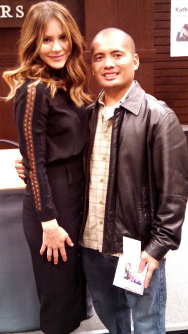 A photo I took with Katharine McPhee inside the Barnes & Noble bookstore at The Grove in Los Angeles...on December 7, 2015.