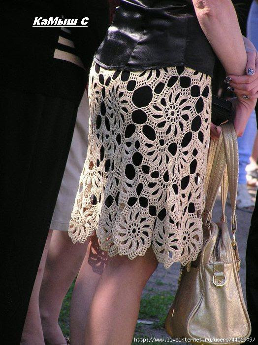 lace crochet skirt