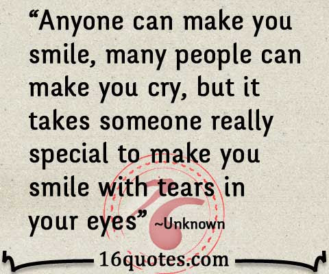 You Can Make Me Smile When Im Crying
