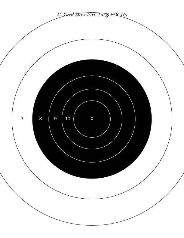 25 Yard Targets Printable