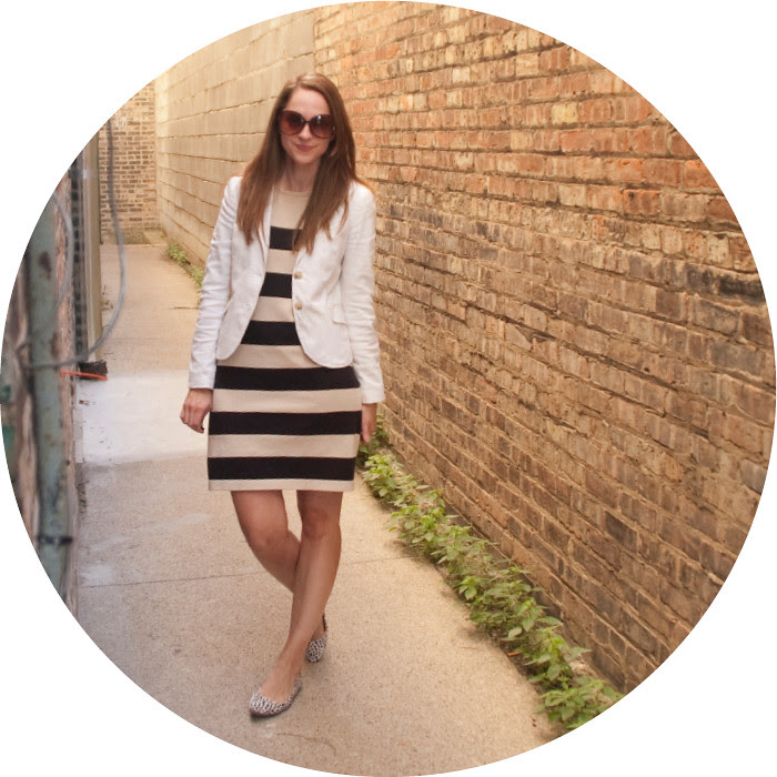 dash dot dotty, outfit blog, ootd, stripes to work, light neutrals, big stripes, dotted flats
