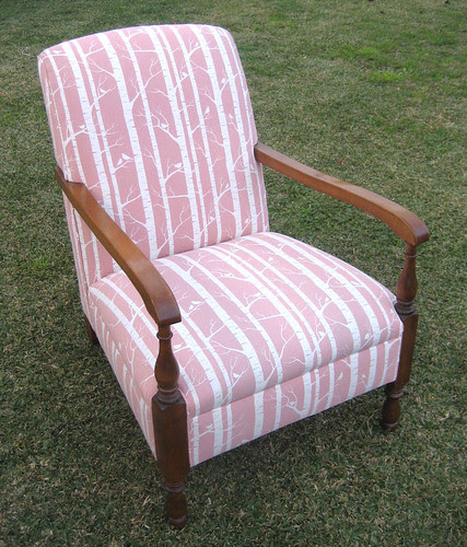 Dusty Pink Birch chair