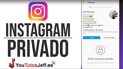 Como poner en Privado mi Instagram 2019