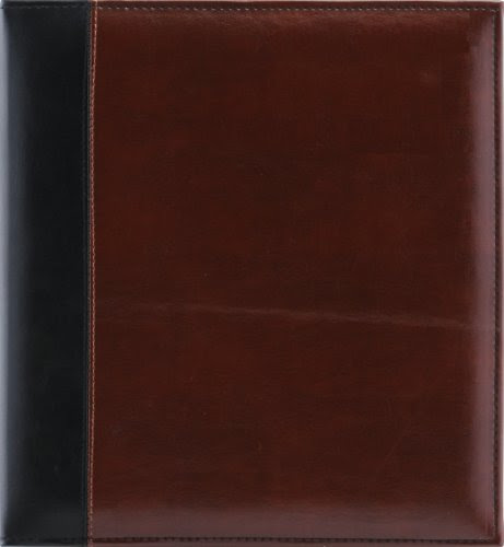 Albums Refills Pinnacle 60 Page Magnetic Faux Leather Ring Bound