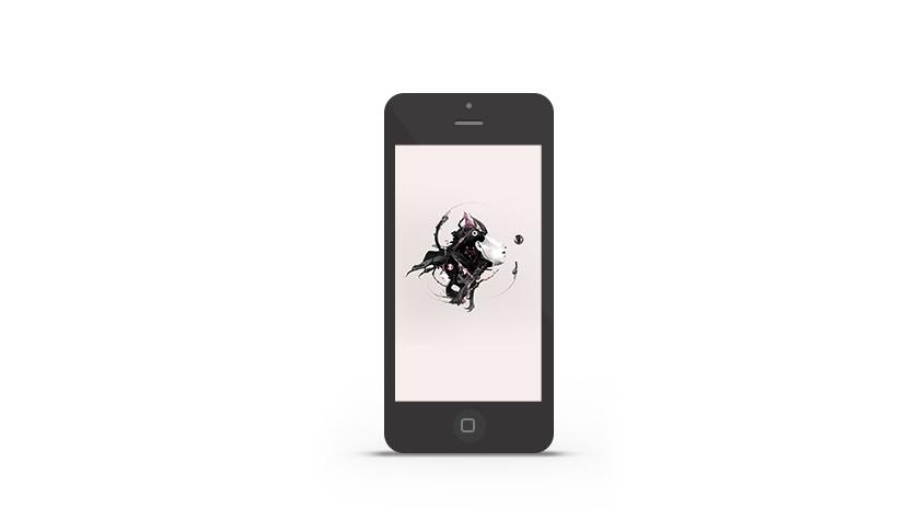 IPhone wallpaper di Abduzeedo della settimana di Justin Maller