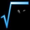 English: Square root of x formula. Symbol of m...