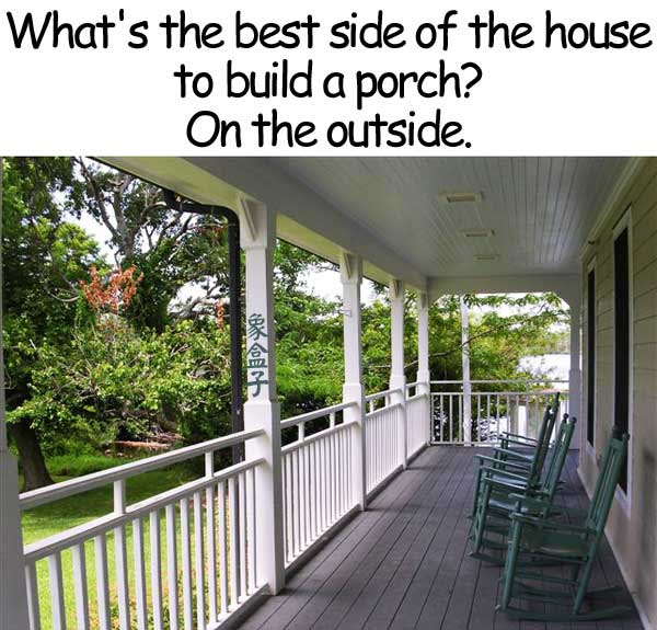porch side outside