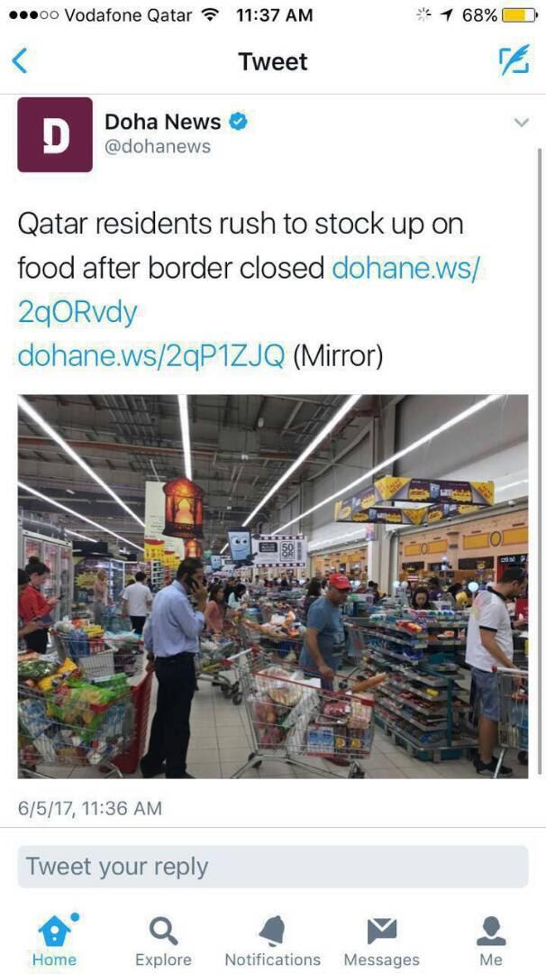 تكدس المواطنين بمتاجر قطر  (3)