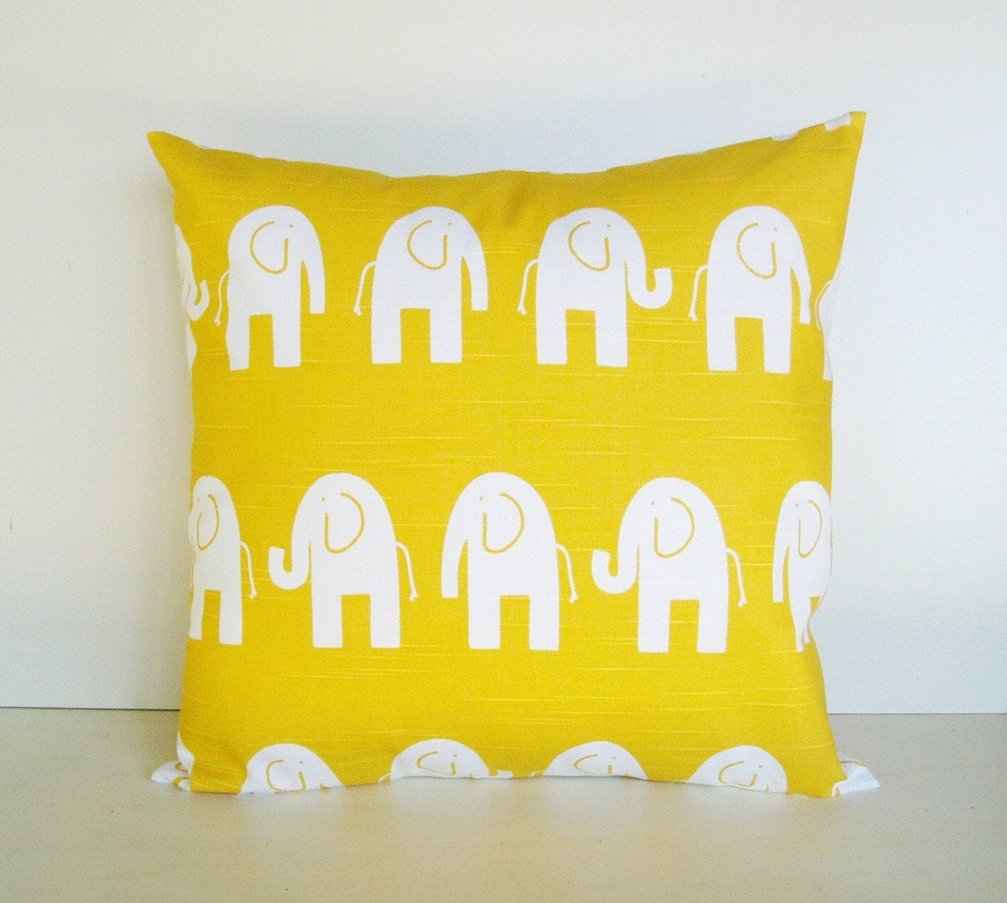 Yellow Pillow Cover Decorative Pillows Ele by BlossomPillowCo
