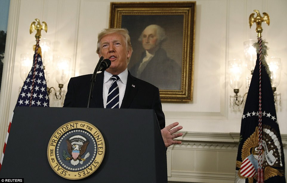 President Trump spoke about the shooting at a morning press conference, calling it a 'senseless murder' and 'an act of pure evil'
