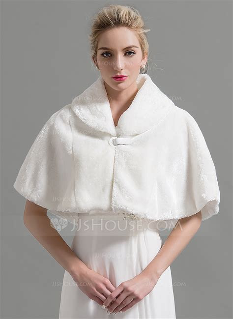 Faux Fur Wedding Shawl (013095209)   Wraps   JJ's House