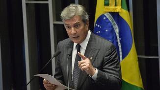 Collor de Mello intervenint al Senat (Reuters)