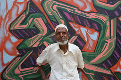Mohomed Bhai Bohra Dabbawala of Bandra Bazar Road by firoze shakir photographerno1