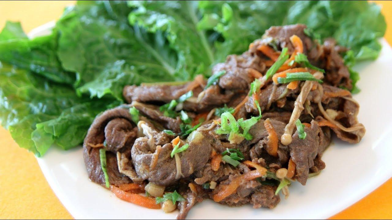 Korean Bulgogi (Marinated Beef) - Korean Recipe - YouTube