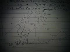 1st night hike sketch
