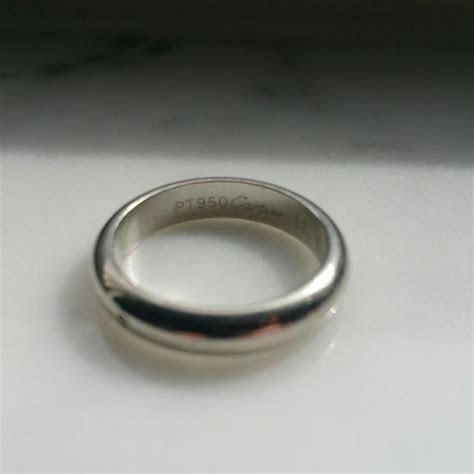 Cartier Platinum Wedding Band Ring   Tradesy