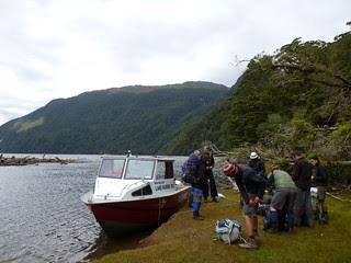 Trackhead - drop off at Lake Hauroko Hut