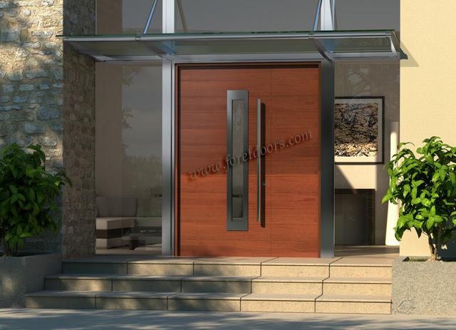 Gallery of contemporary modern wood front entry doors by Foret ...