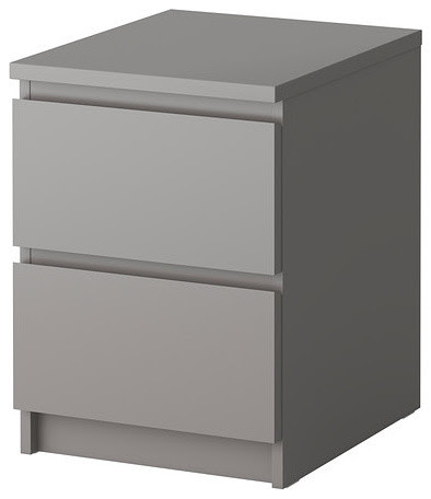 MALM Chest of 2 drawers - grey - Contemporary ...