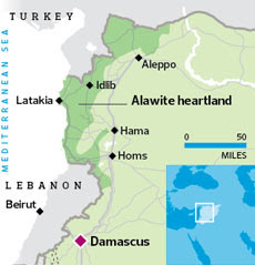Location of Latakia, Syria