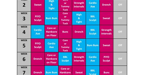 piyo brazil butt lift hybrid workout calendarpdf