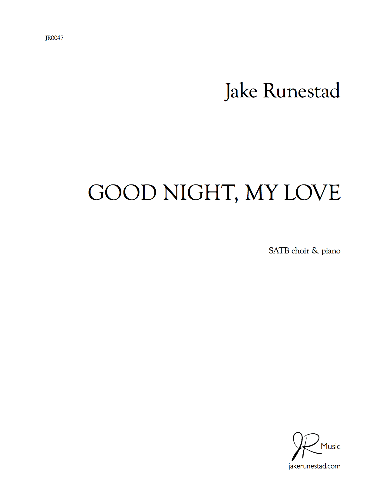 Good Night My Love Jake Runestad