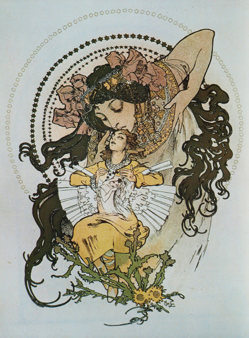 "sealmaiden: Alphonse Mucha Illustration for the cover page of the book ""Ilse"