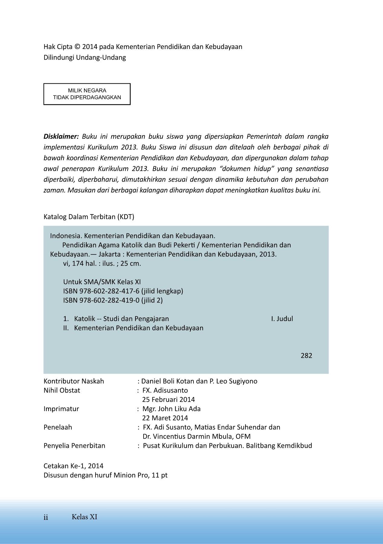 Kelas 11 SMA Pendidikan Agama Katolik dan Budi Pekerti Siswa Pages 151 180 Text Version