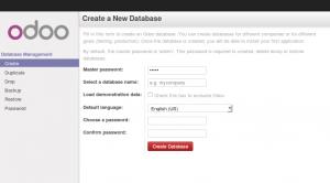 Odoo 8 New Database