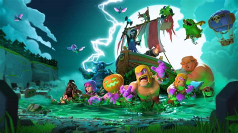 halloween clash  clans  hd wallpapers
