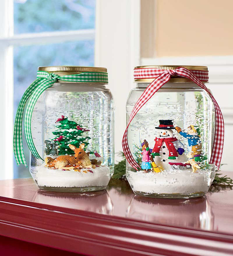 My most favorite of the list. Snow globes with a cute ribbon makes