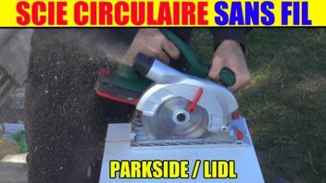 Lidl scie circulaire parkside sans fil 18v phksa 18-li