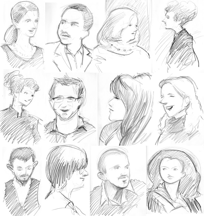zdepski's sketches of the office christmas party - 2009