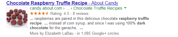 SERP with structured data
