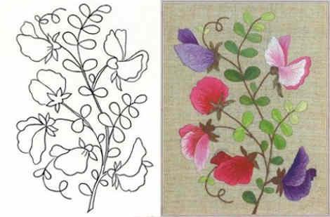 Dibujos De Flores Para Bordar A Mano