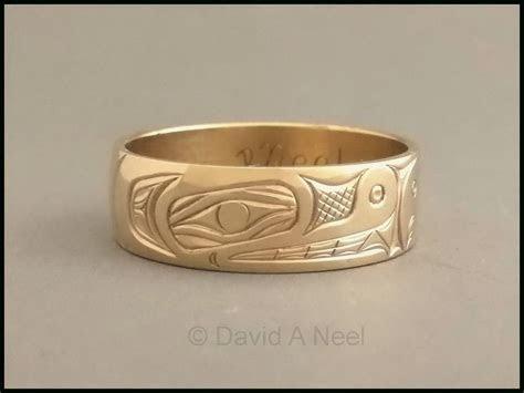 Bear Ring   14k Gold Kwakiutl gold band, haida gold ring