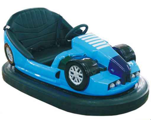 Blue ground grid electric bumping car