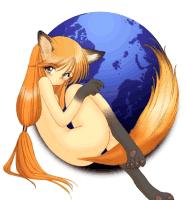 girl firefox logo