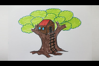 20+ New For Simple Tree House Drawing For Kids