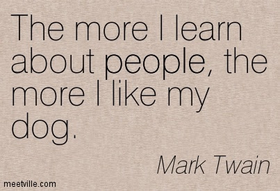 Quoting Mark Twain