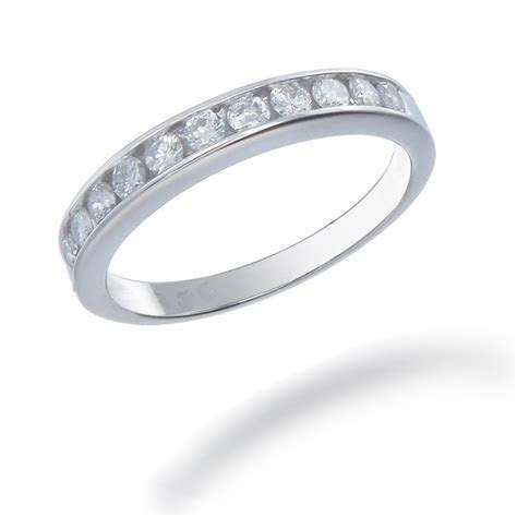 .25 tcw Women's Diamond Wedding Band set in 14k White Gold