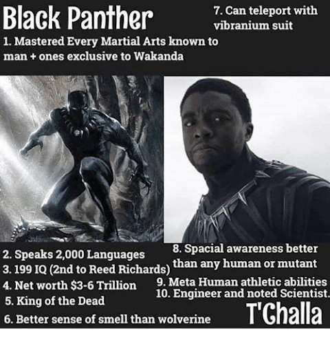 Black Panther Comic Net Worth