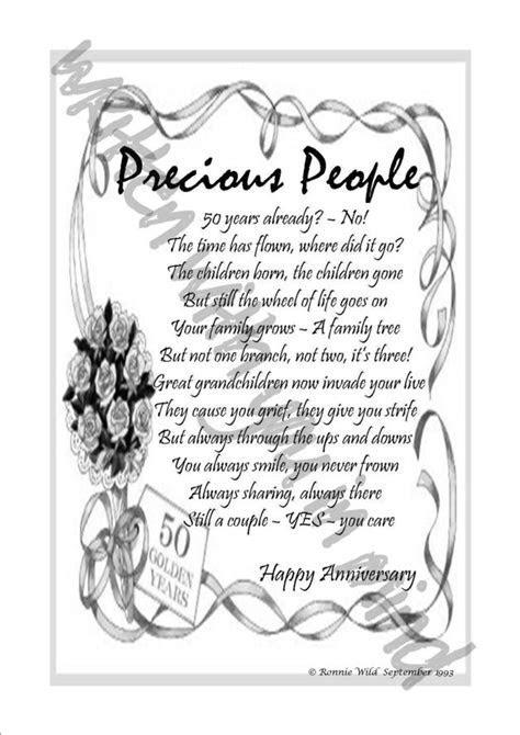 Poetry ? Precious people   golden wedding anniversary poem